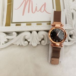 Jewelry - SOLD  NEW ROSEGOLD WITH BLACK WATCH